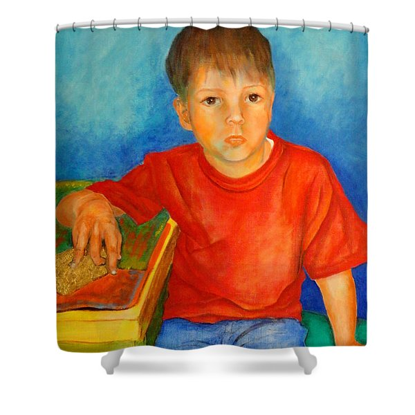 Portrait Andres Shower Curtain
