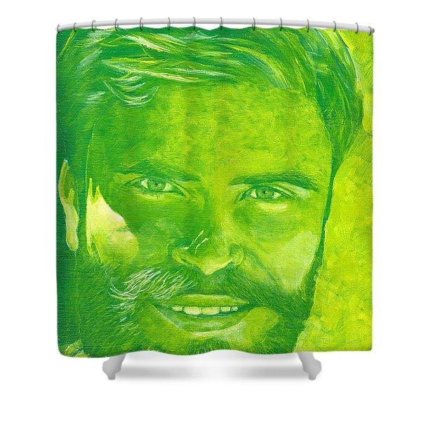 Portrait In Green Shower Curtain