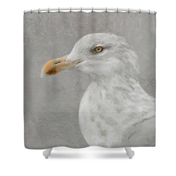 Portrait Of A Gull Shower Curtain