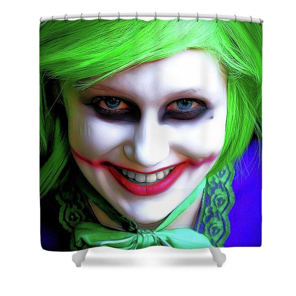 Portrait Of A Joker Shower Curtain