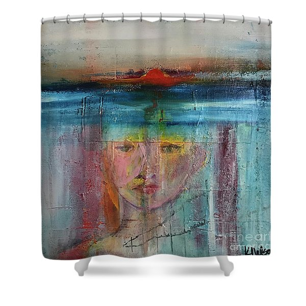 Portrait Of A Refugee Shower Curtain