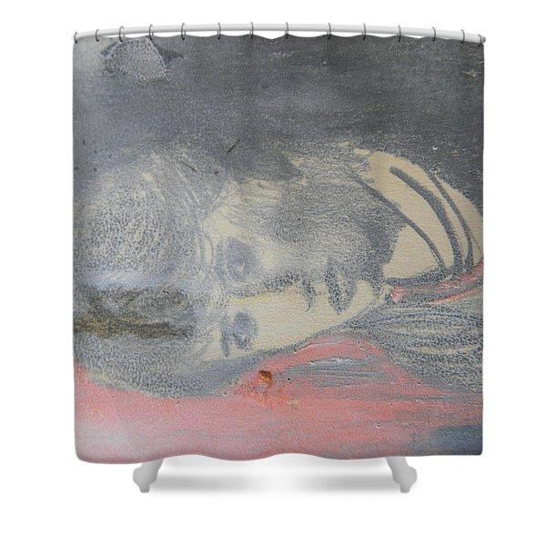 Portrait Of A Theatre Actress Shower Curtain