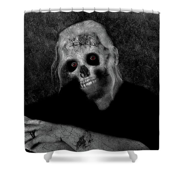 Portrait Of A Zombie Shower Curtain