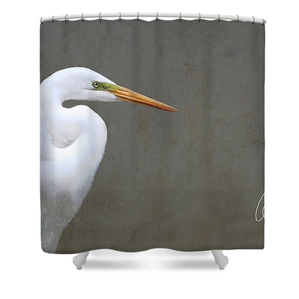 Portrait Of An Egret Shower Curtain