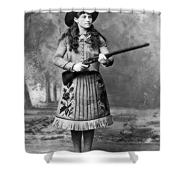 Portrait Of Annie Oakley Shower Curtain