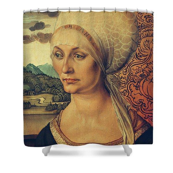 Portrait Of Elisabeth Tucher Shower Curtain