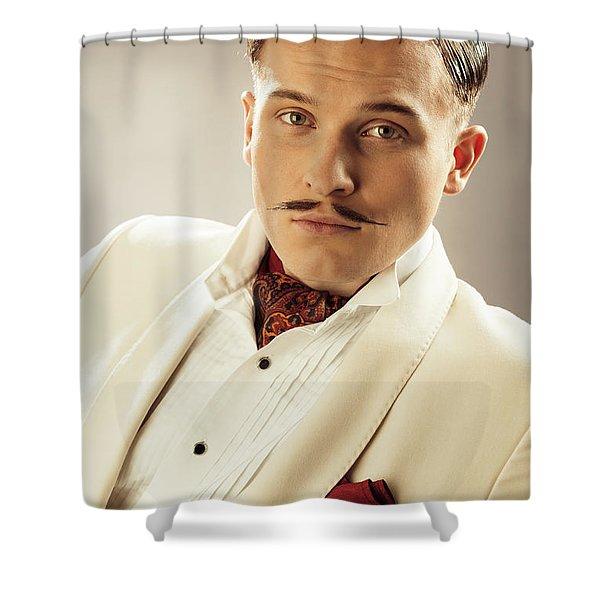 Portrait Of Errol Flynn Character Shower Curtain