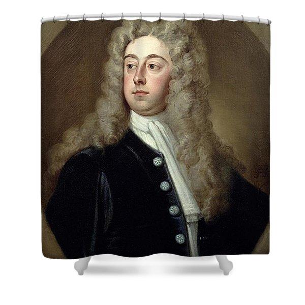 Portrait Of Francis 2nd Earl Of Godolphin 1678-1766 Sir Godfrey Kneller Shower Curtain