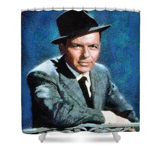 Portrait Of Frank Sinatra Shower Curtain