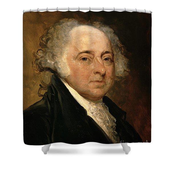 Portrait Of John Adams Shower Curtain