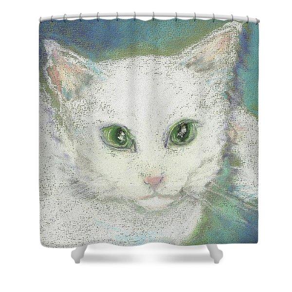 Portrait Of Misty Shower Curtain