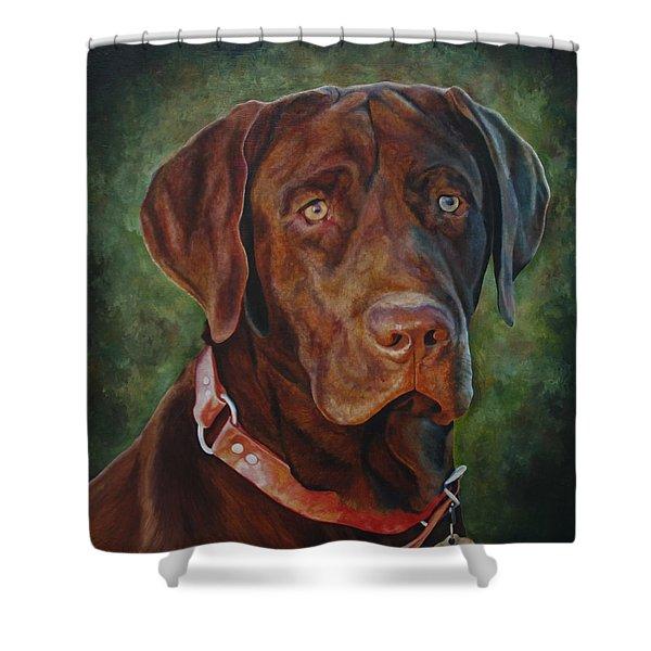 Portrait Of Remington 0094_2 Shower Curtain