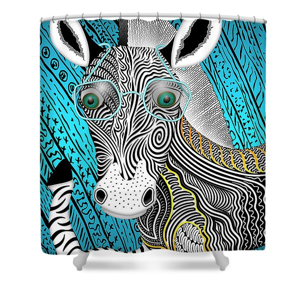 Portrait Of The Artist As A Young Zebra Shower Curtain