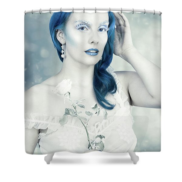Portrait Of The Snow Queen Shower Curtain