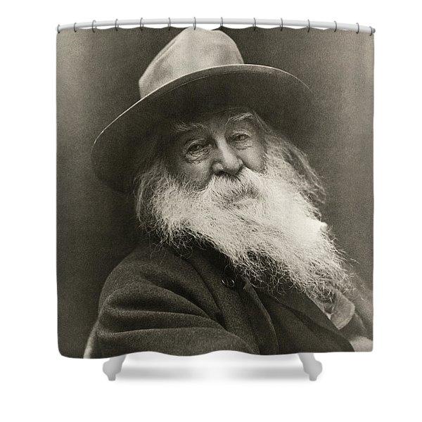 Portrait Of Walt Whitman Shower Curtain