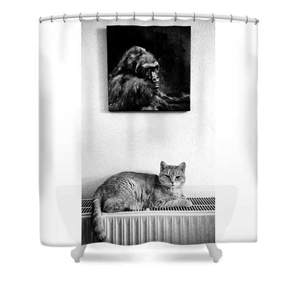 Portraitiere Mich. Jetzt.  #imhotep Shower Curtain