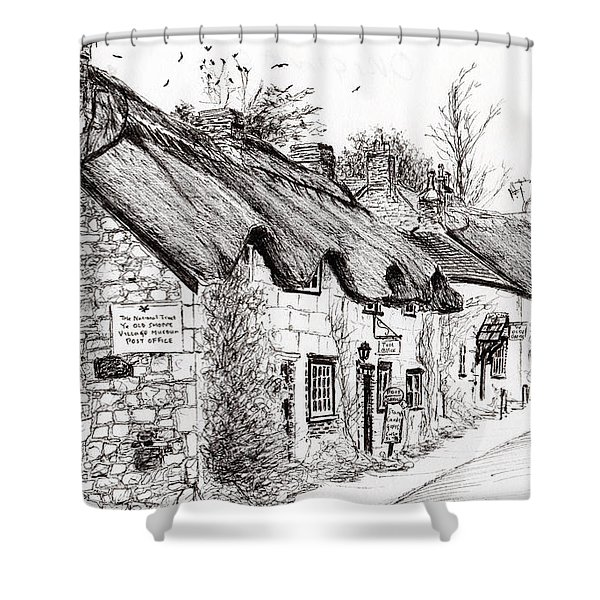 Post Office And Museum Shower Curtain