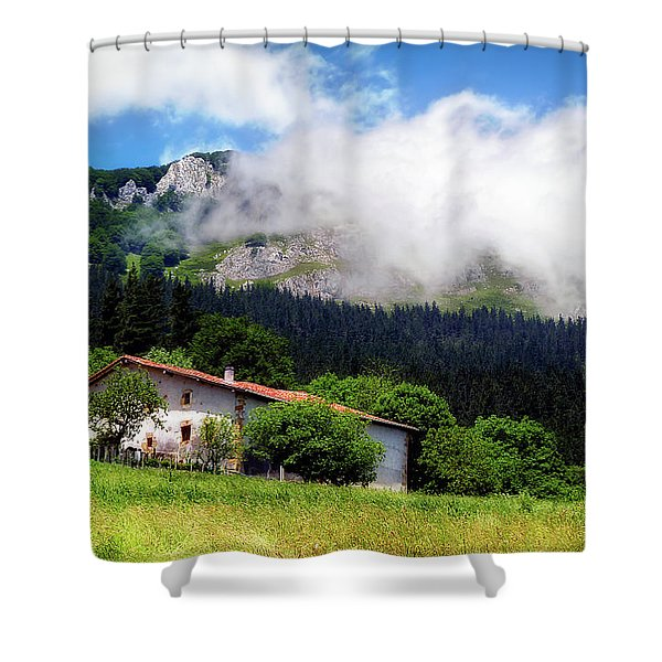 Postcard From Basque Country Shower Curtain