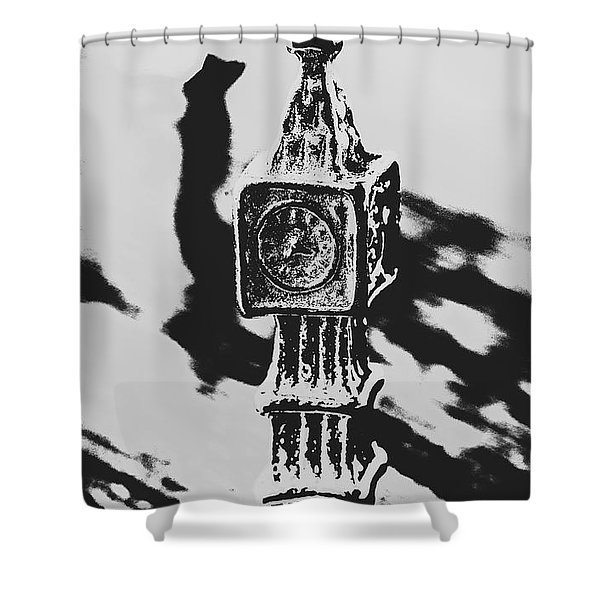 Postcards From Big Ben  Shower Curtain