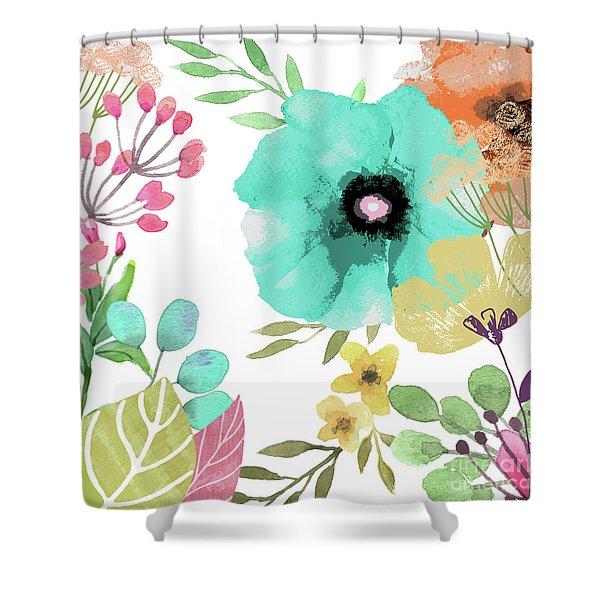 Posy II Shower Curtain