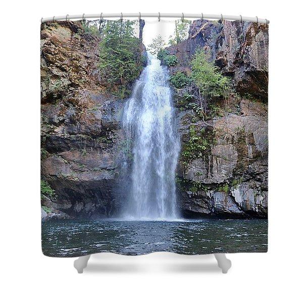Potem Falls Shower Curtain