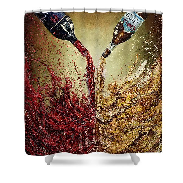 Pouring It Down Shower Curtain