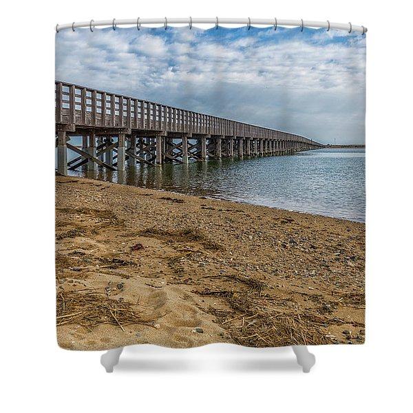 Powder Point Bridge Shower Curtain