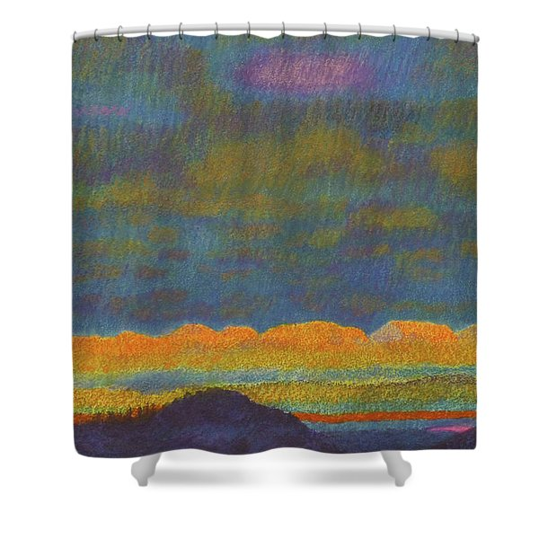 Shower Curtain featuring the painting Powder River Reverie, 1 by Cris Fulton