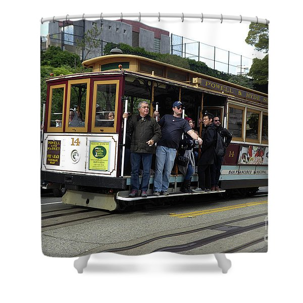 Powell And Market Street Trolley Shower Curtain