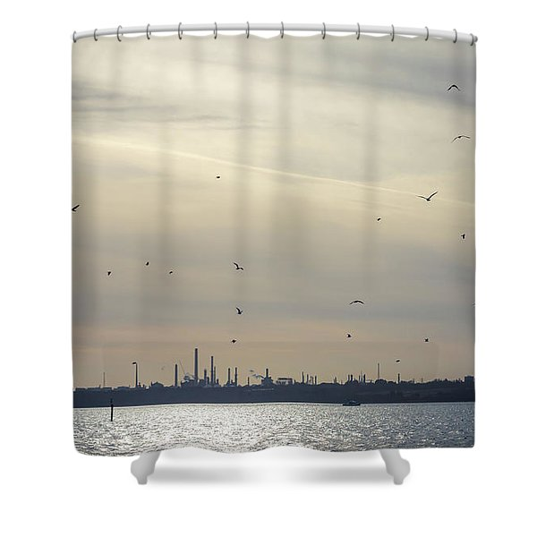 Power By The Sea Shower Curtain