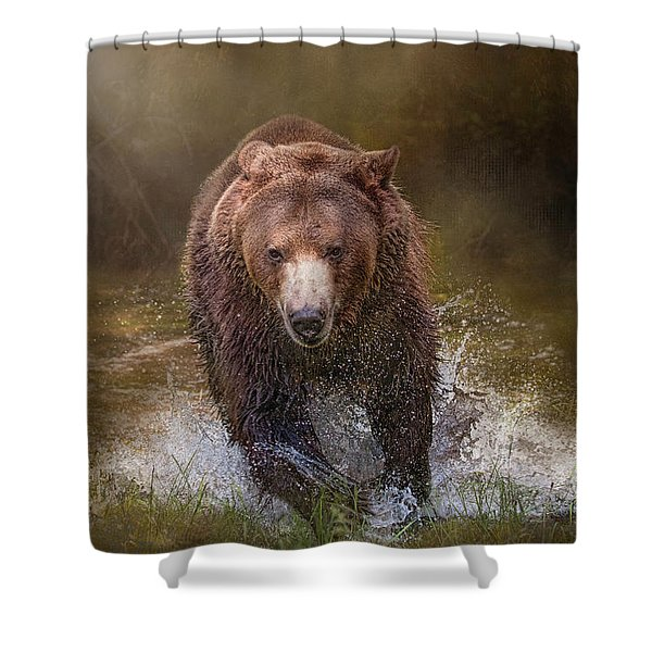 Power Of The Grizzly Shower Curtain