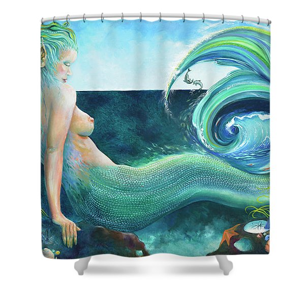 Power Of The Ocean Shower Curtain