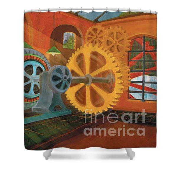 Power Plant Turbines Shower Curtain