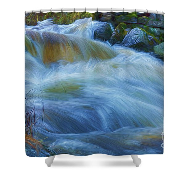 Powerful Flow 4 Shower Curtain