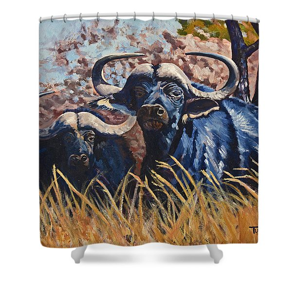 Powerful Potential Shower Curtain