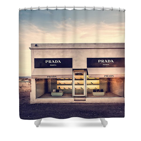 Shower Curtain featuring the photograph Prada Store by Prada