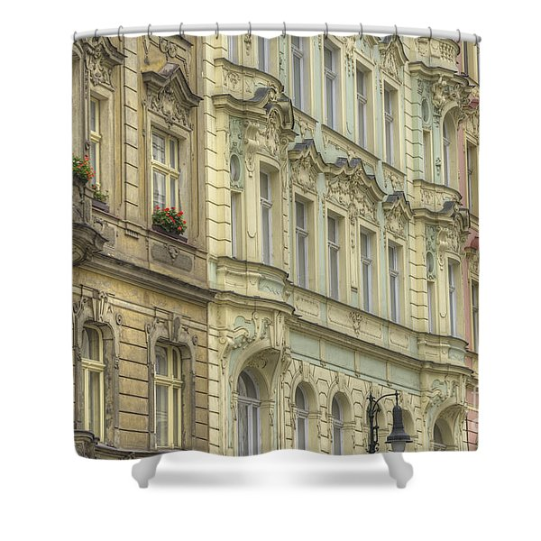 Prague. Architectural Detail Shower Curtain