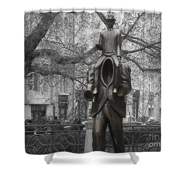 Prague. Franz Kafka Statue Shower Curtain