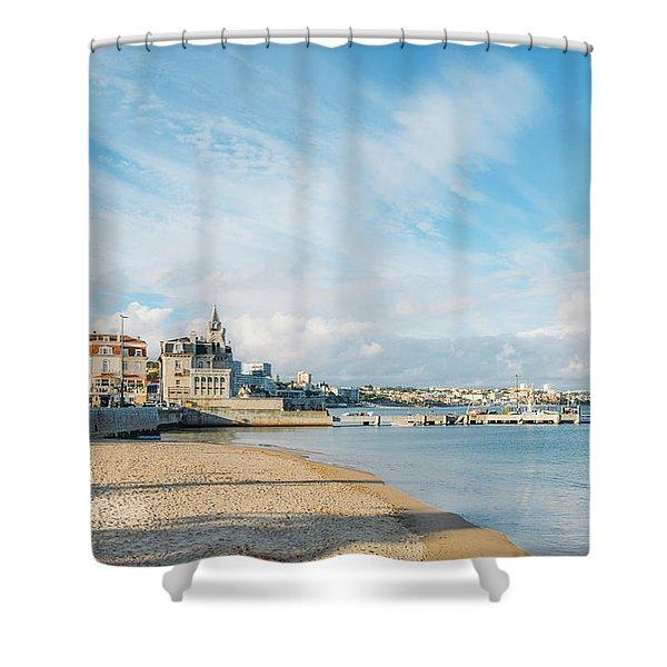Praia Da Ribeira, Cascais, Portugal Shower Curtain