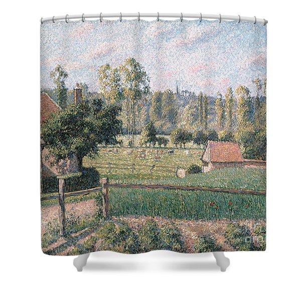 Prairie At Eragny, 1889 Shower Curtain