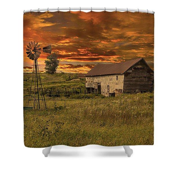 Prairie Barn Shower Curtain