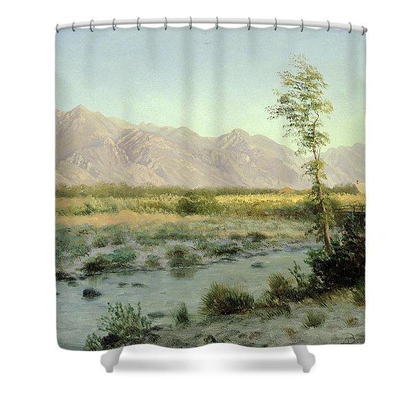 Prairie Landscape Shower Curtain