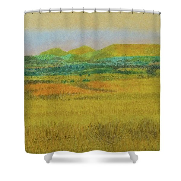 Shower Curtain featuring the painting Prairie Reverie by Cris Fulton