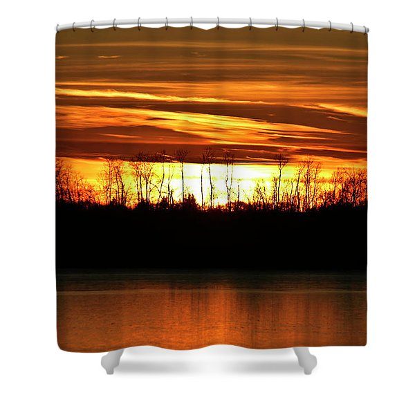 Prairie Sunset Shower Curtain