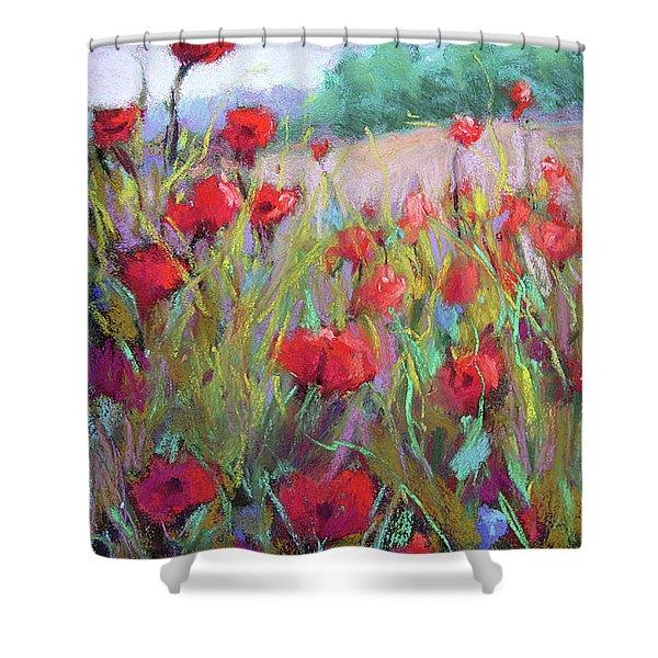 Praising Poppies Shower Curtain