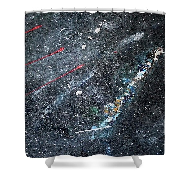 Shower Curtain featuring the painting Prana by Michael Lucarelli