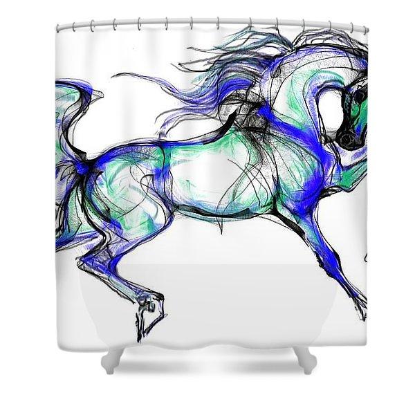 Prancing Arabian Horse Shower Curtain