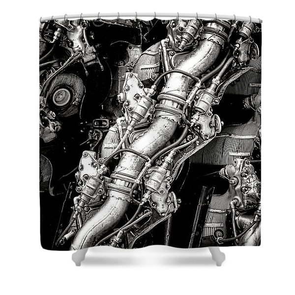 Pratt And Whitney Wasp Major  Shower Curtain