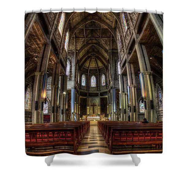 Our Lady Of Nahuel Huapi Cathedral In The Argentine Patagonia Shower Curtain