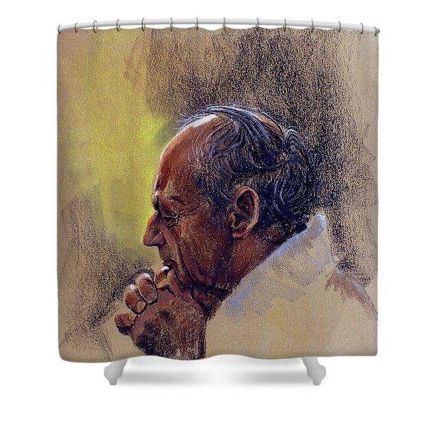 Prayer. Hope In God Shower Curtain